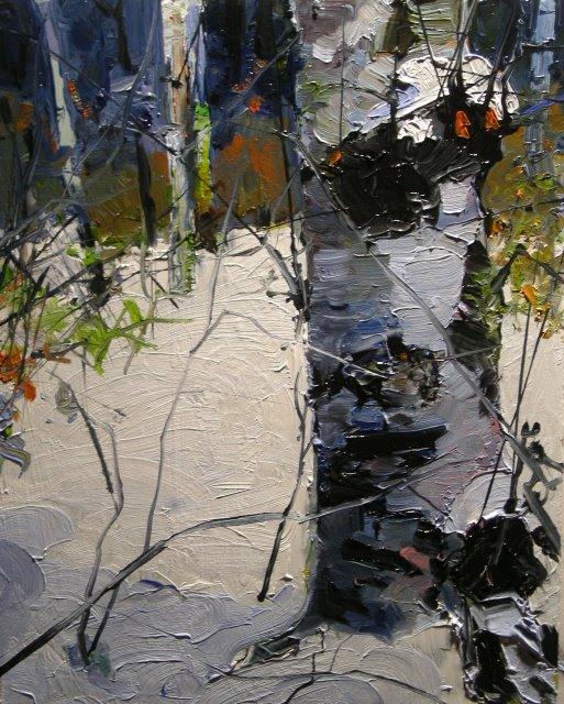 """""""Alders in Snow  landscape oil painting"""" original fine art by Robin Weiss"""