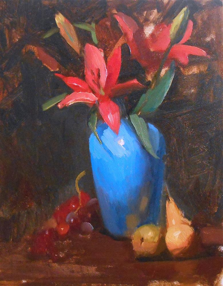 """Christmas Lilies"" original fine art by Kelli Folsom"