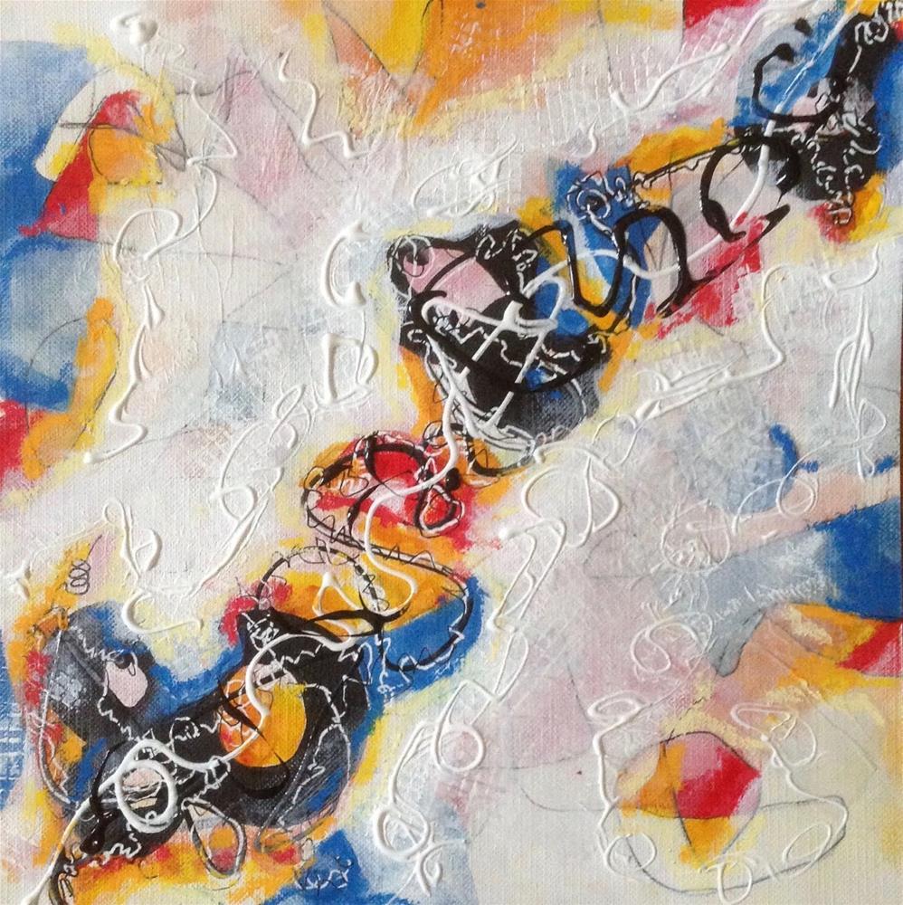"""""""Slip Slidin' Away"""" original fine art by Dotty  Seiter"""