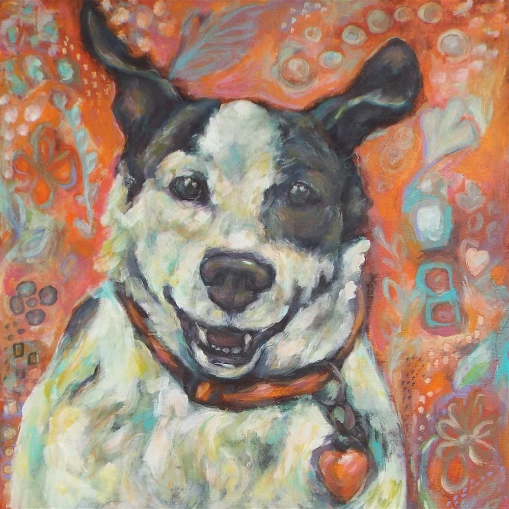 """Happy Girl"" original fine art by Kathy Hiserman"