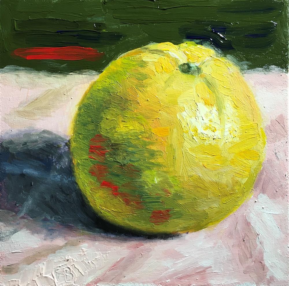 """226 Orange Time"" original fine art by Fred Bell"