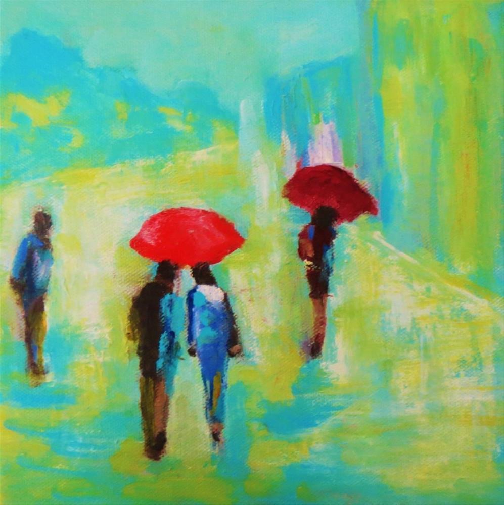 """Together in the rain"" original fine art by Astrid Buchhammer"