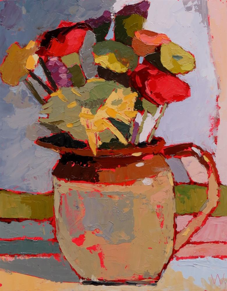"""Aldi Blooms"" original fine art by Joan Wiberg"