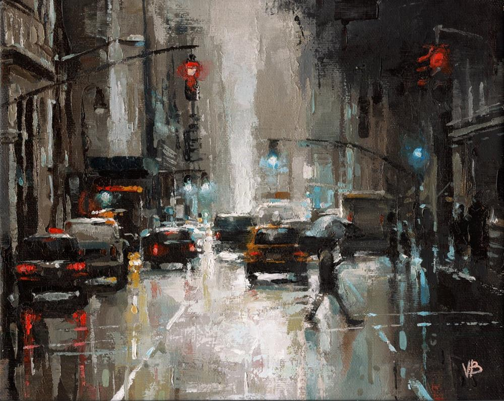 """Broadway No.4"" original fine art by Victor Bauer"