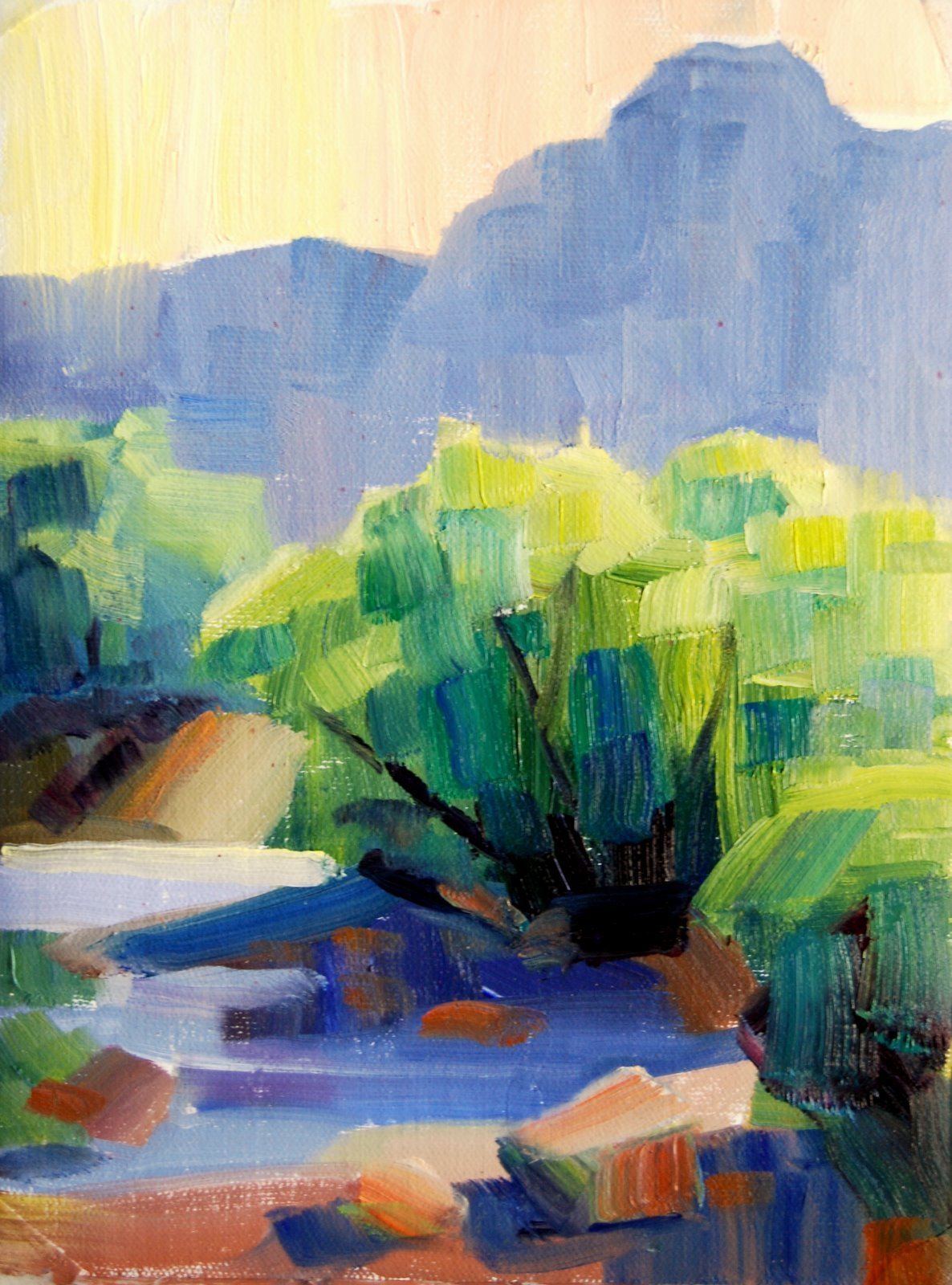 """Sun and Shadows"" original fine art by Julie Ford Oliver"