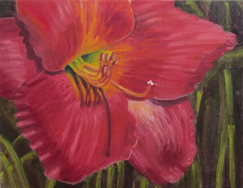 """Red Hibiscus"" original fine art by Richard Kiehn"