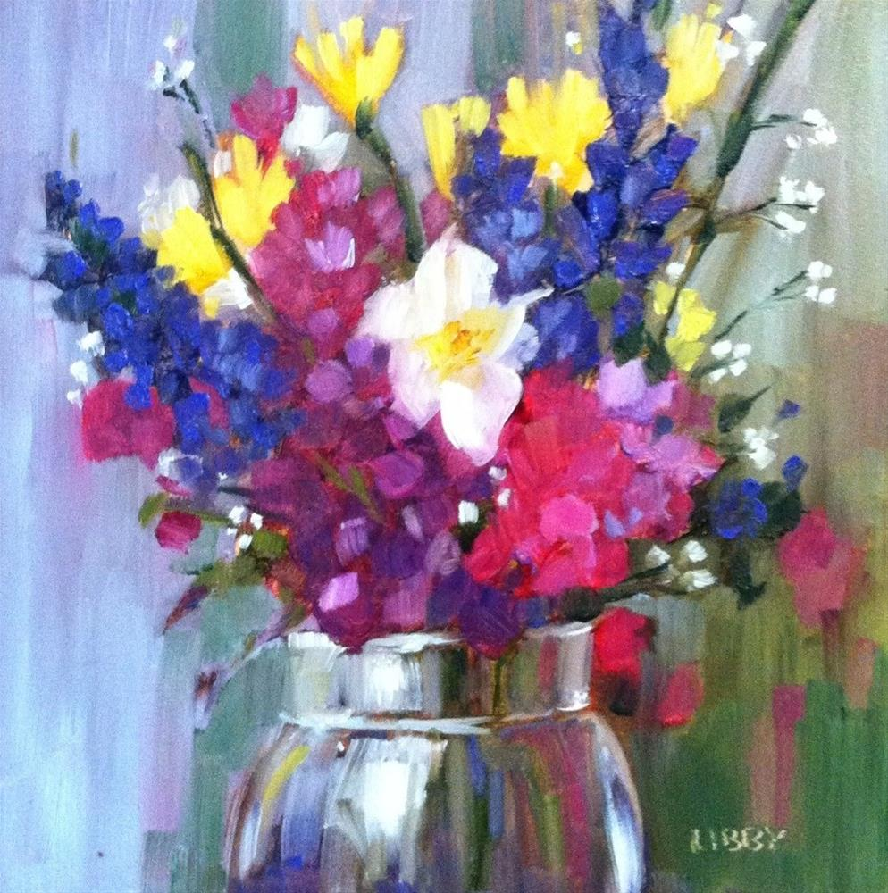 """Joyful Bouquet"" original fine art by Libby Anderson"