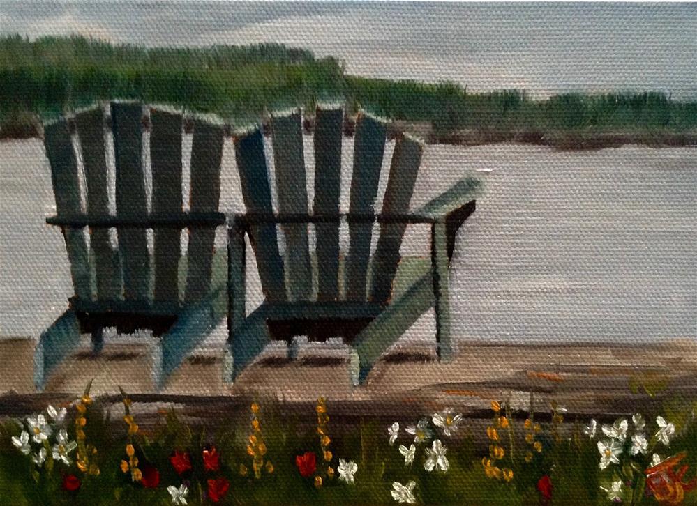 """Ocean View"" original fine art by Bobbie Cook"