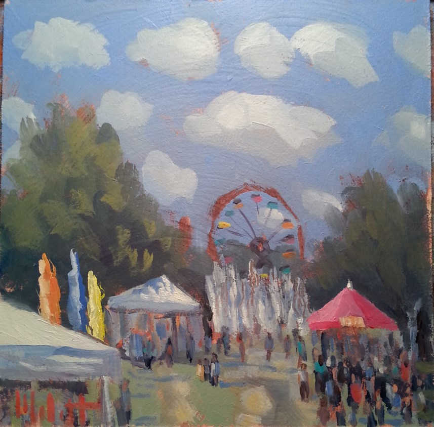 """Three River's Festival Summer Carnival"" original fine art by Heidi Malott"
