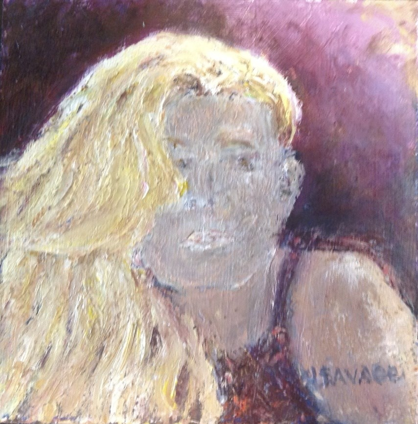 """""""It's All About the Hair"""" original fine art by Judy Usavage"""