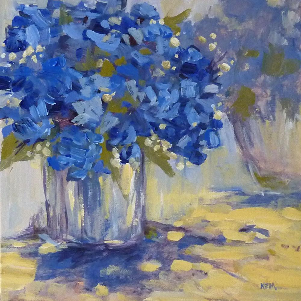 """Variation on a Theme...Hydrangeas"" original fine art by Karen Margulis"