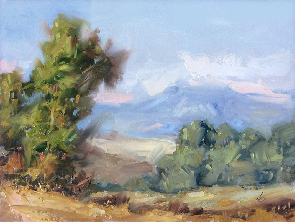 """CALIFORNIA PLEIN AIR LANDSCAPE"" original fine art by Tom Brown"
