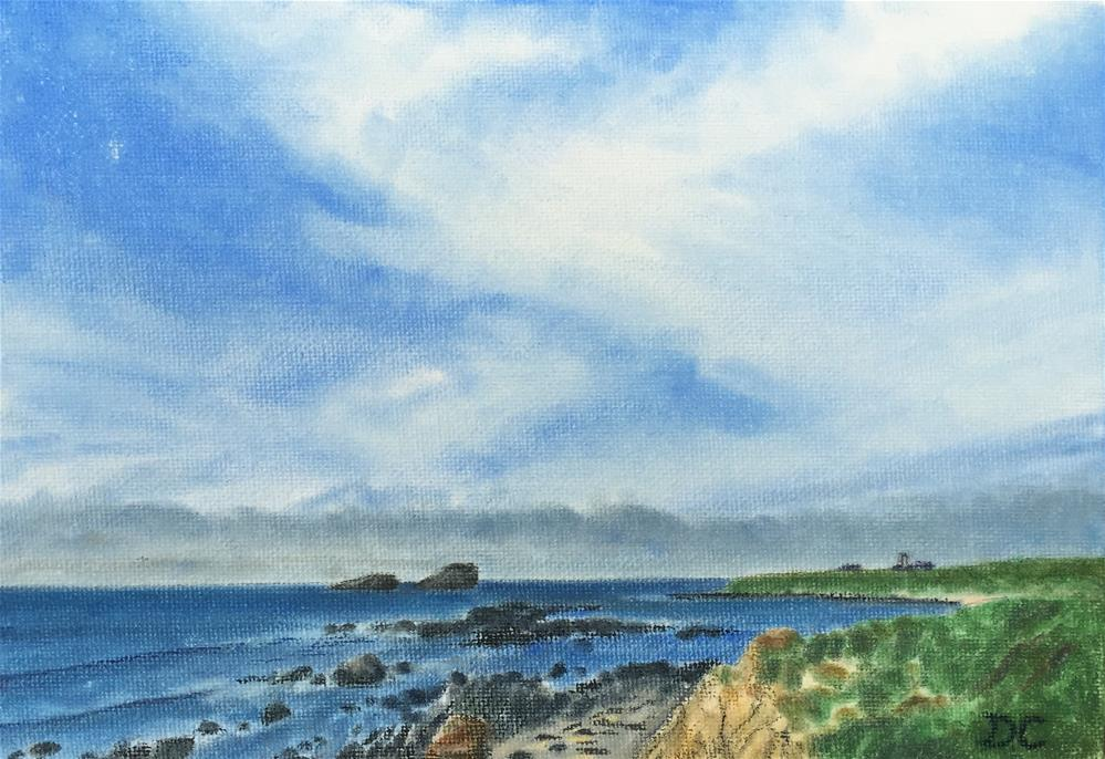 """Point Piedras Blancas"" original fine art by Diana Chang"