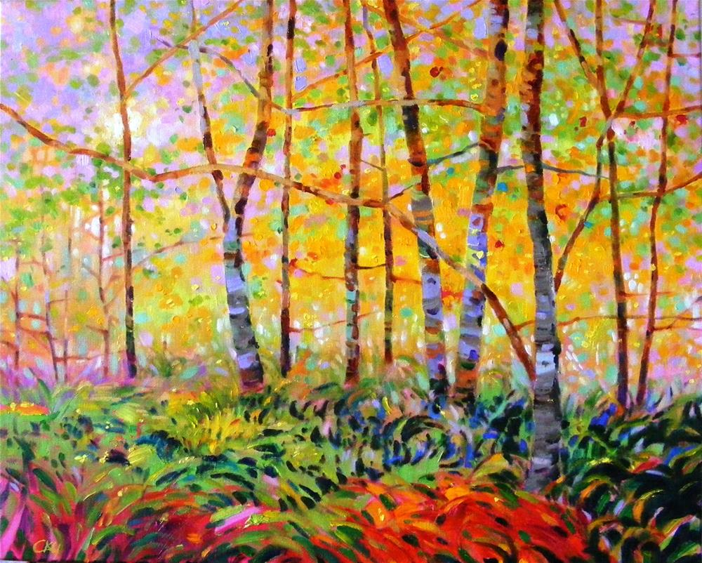 """Serenade of forest"" original fine art by Celine K.  Yong"