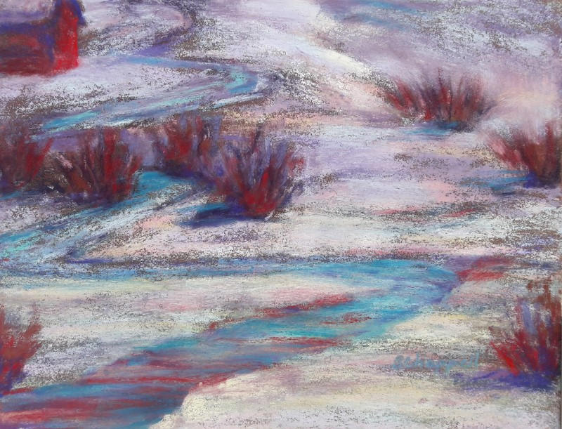 """Late Winter Light"" original fine art by Becky Chappell"