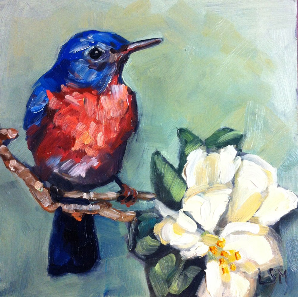 """Song Bird"" original fine art by Linda Marino"