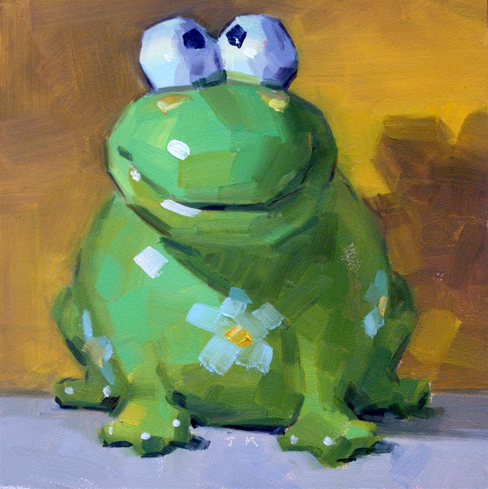 """Kiss That Frog !"" original fine art by Jiyoung Kim"