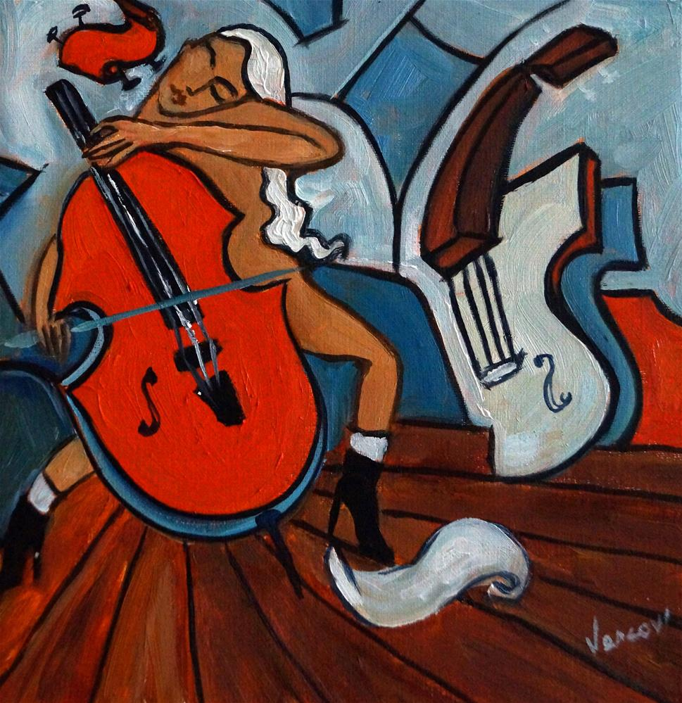 """Le Violon Rouge"" original fine art by Valerie Vescovi"