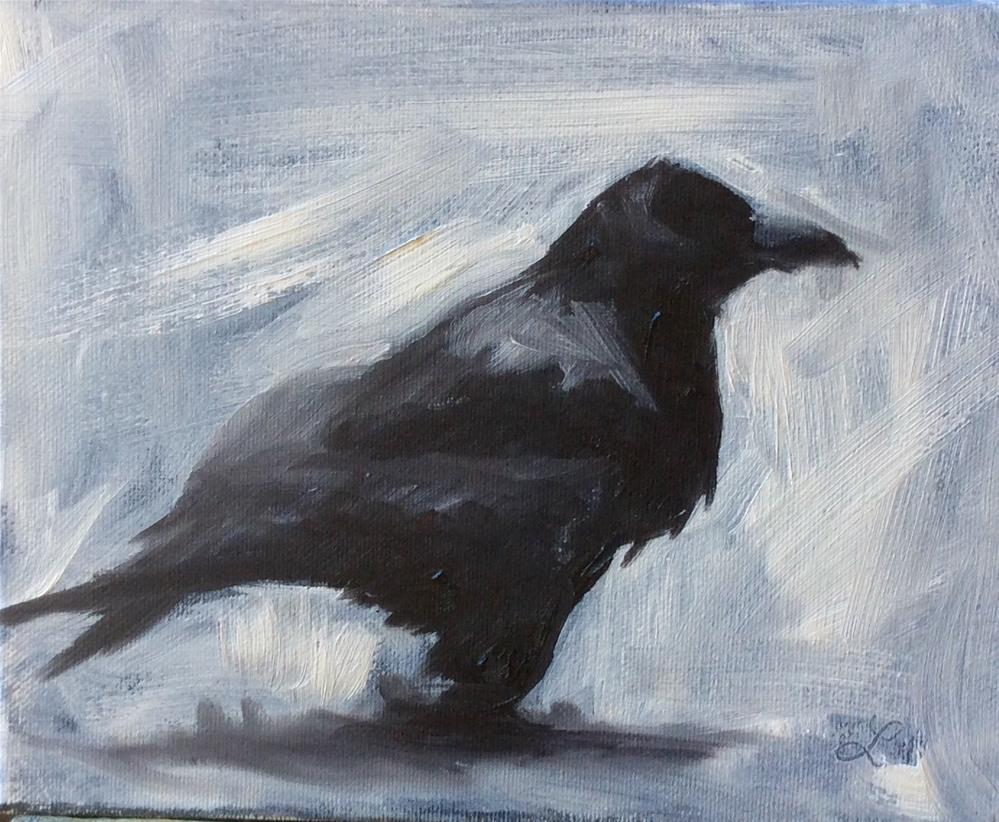 """Crow"" original fine art by Lori Jacobs - Farist"