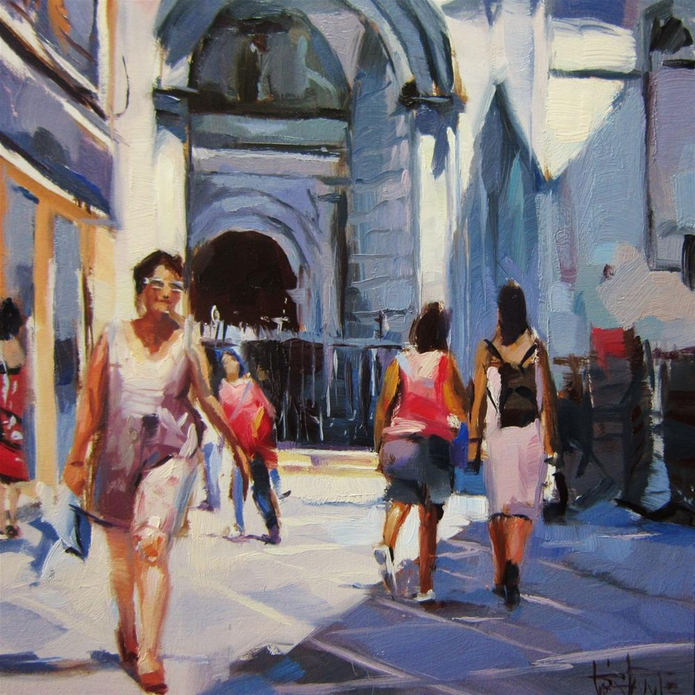 """Front of the church"" original fine art by Víctor Tristante"