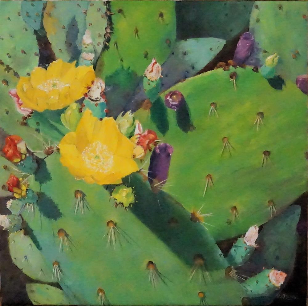 """Cactus - Paddle Leaf"" original fine art by Patricia Matranga"