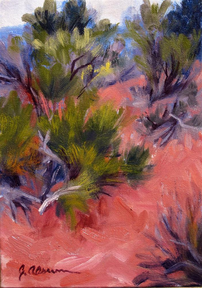 """Desert Red / Spring Green"" original fine art by Gary Alsum"