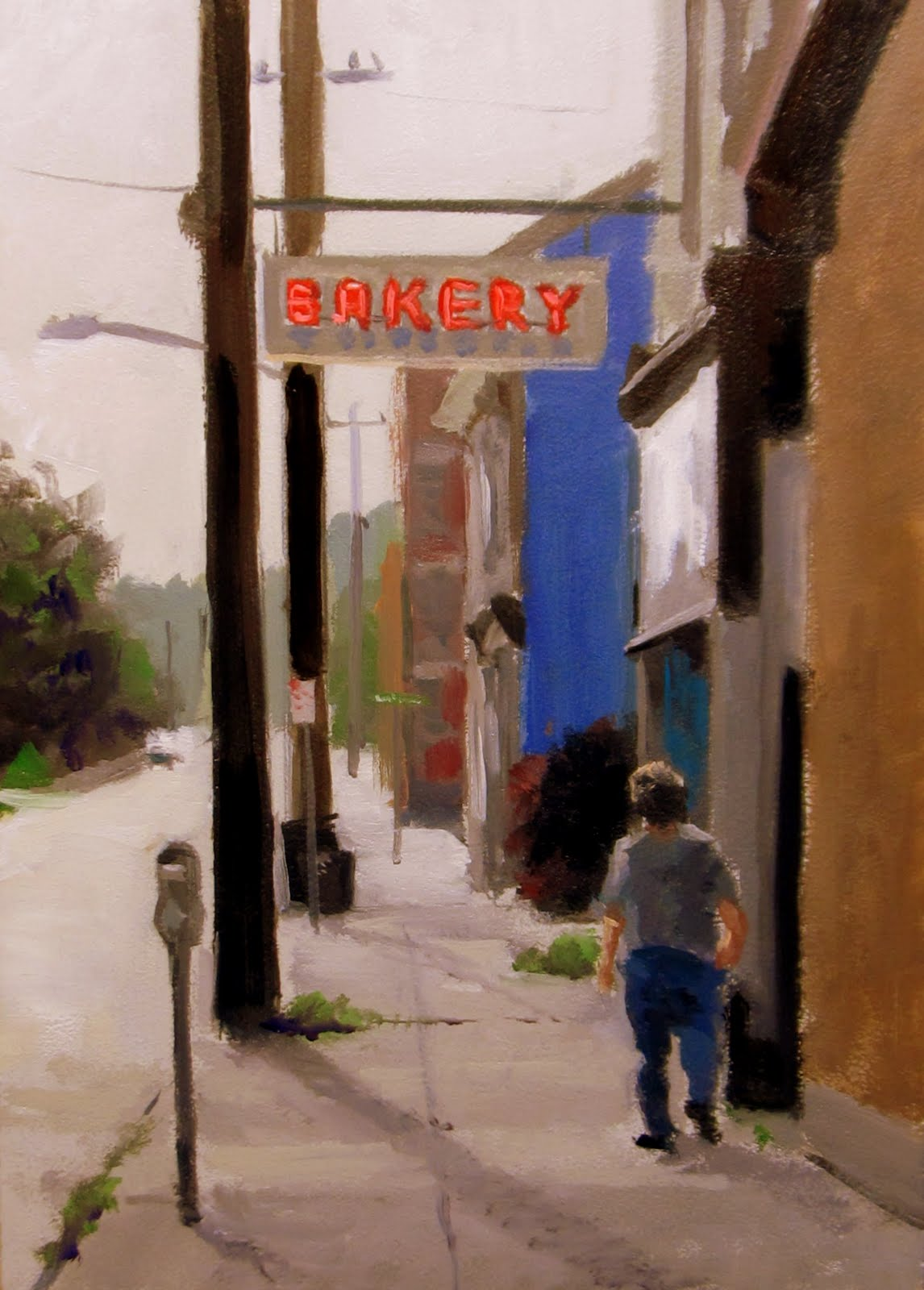 """ART 4 DIAPERS (DAILY DIAPER #171) AM Bakery"" original fine art by Brian Burt"