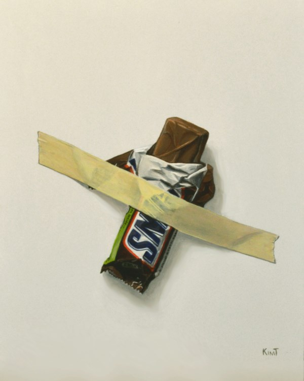 """In Case of Chocolate Emergency 6"" original fine art by Kim Testone"