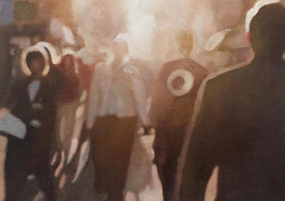 """Street Life"" original fine art by John Cameron"