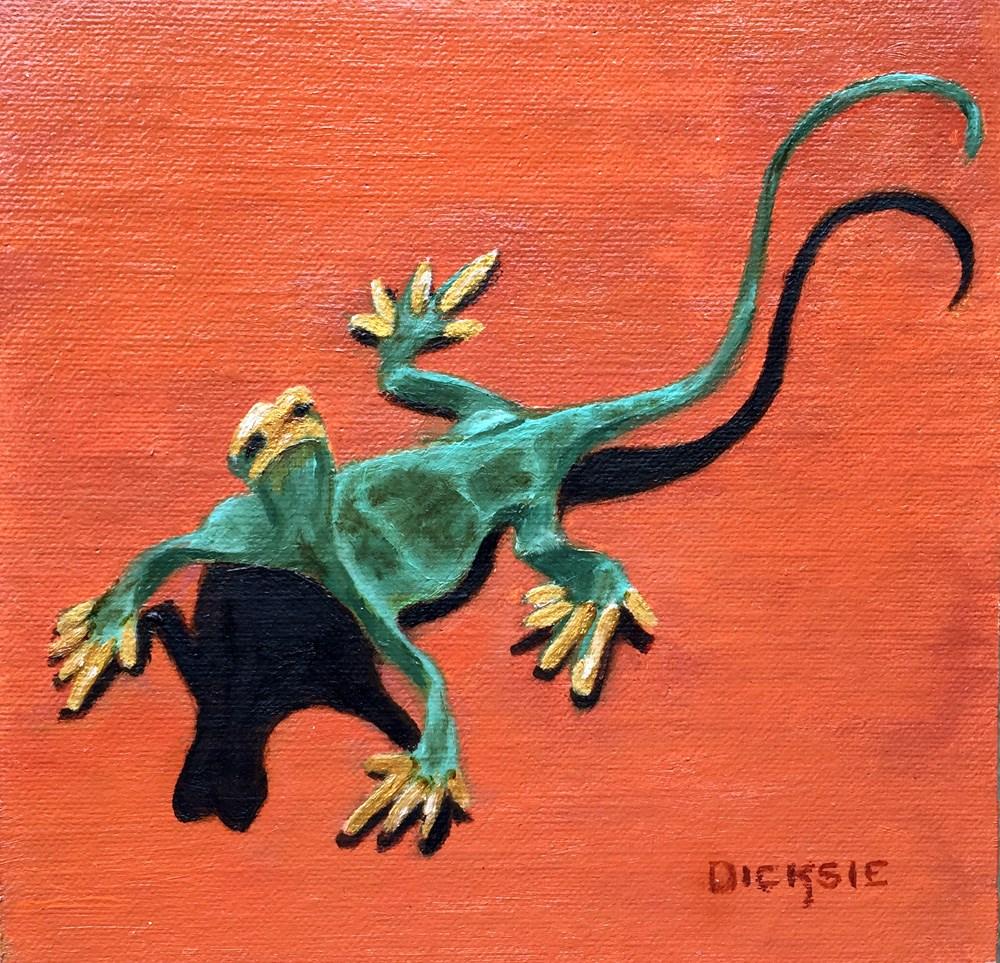 """Artsy Gecko"" original fine art by Dicksie McDaniel"