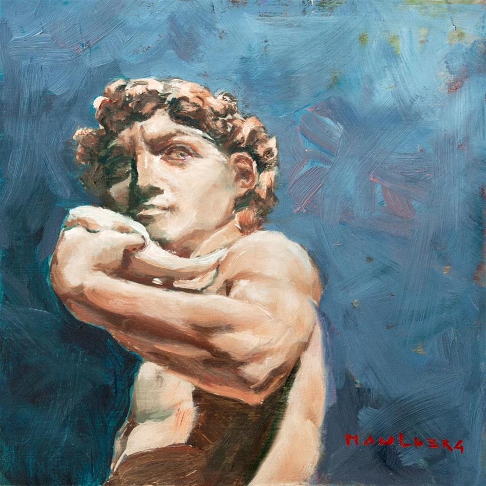 """Michaelangelo's David, 1Samuel 17:32"" original fine art by Cynthia Mahlberg"