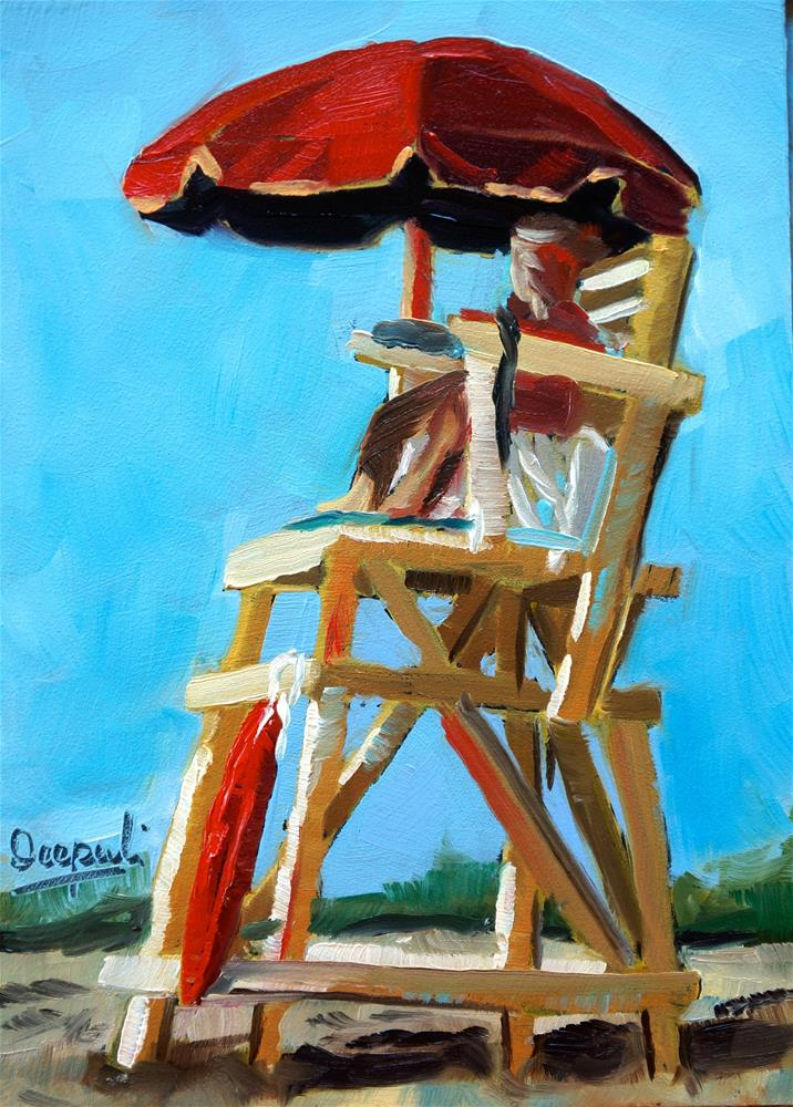 """Lifeguard"" original fine art by Dipali Rabadiya"