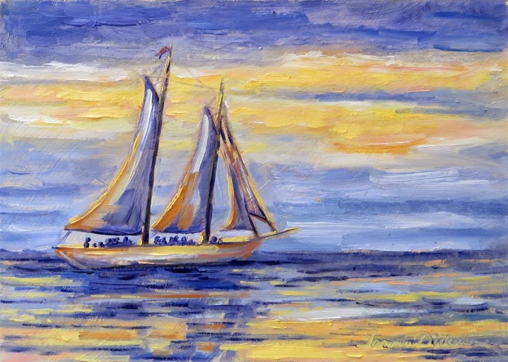 """Sailing Sister Bay"" original fine art by Tammie Dickerson"