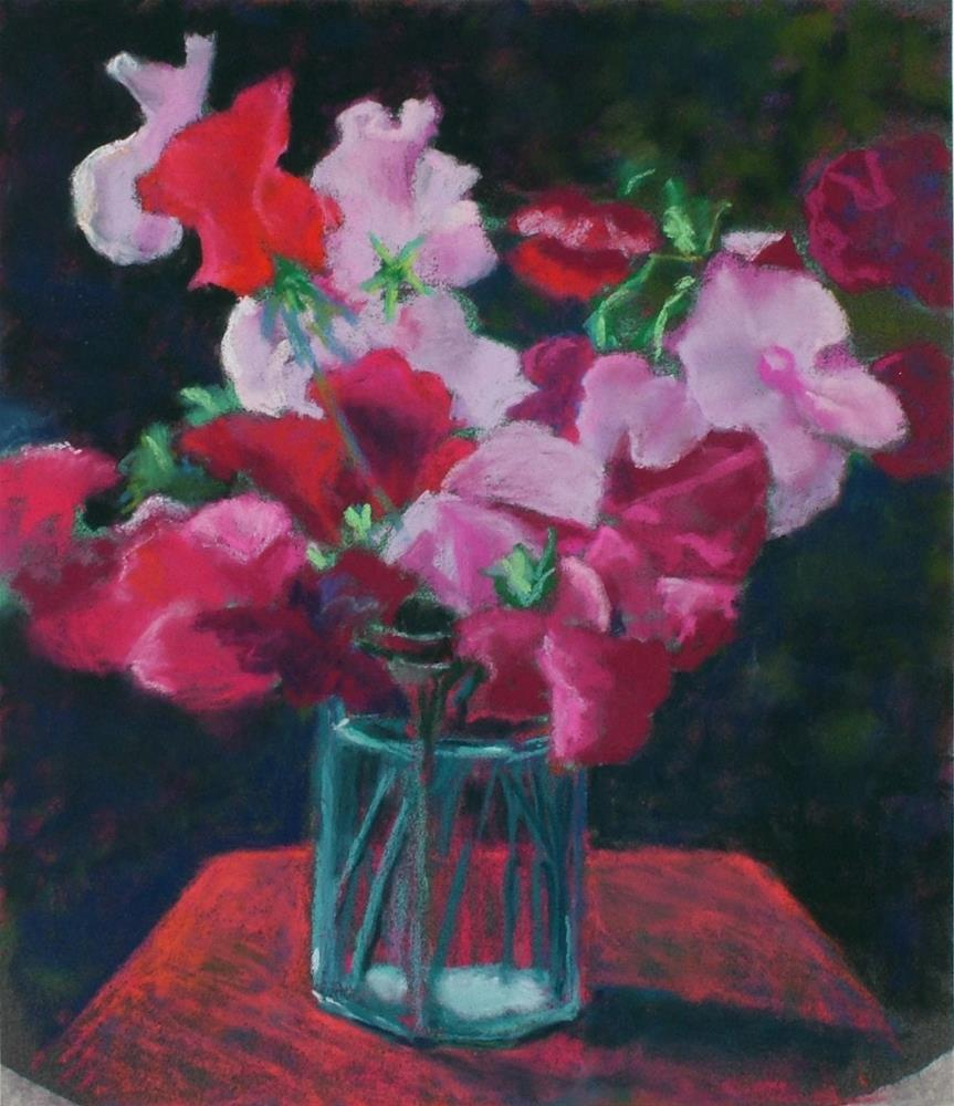 """Sweet Peas (-sold)"" original fine art by Christine Derrick"