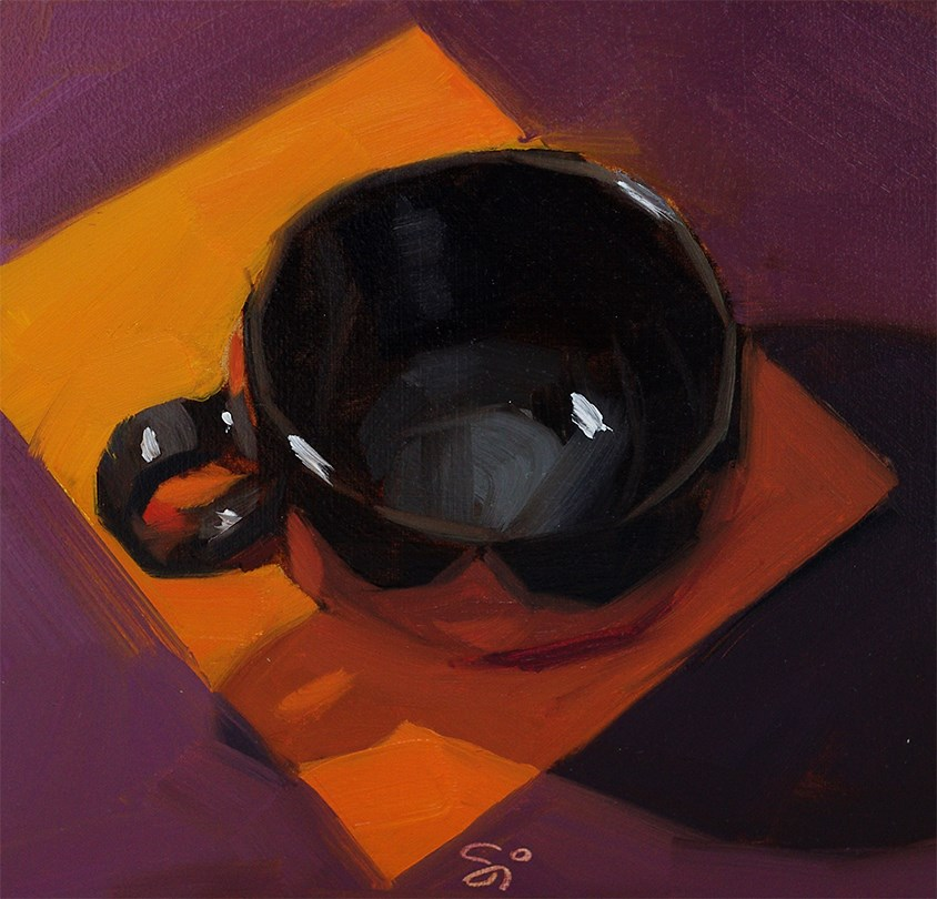"""Black cup"" original fine art by Istvan Schaller"