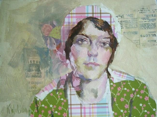 """""""Plaid Hat"""" original fine art by Katie Wilson"""