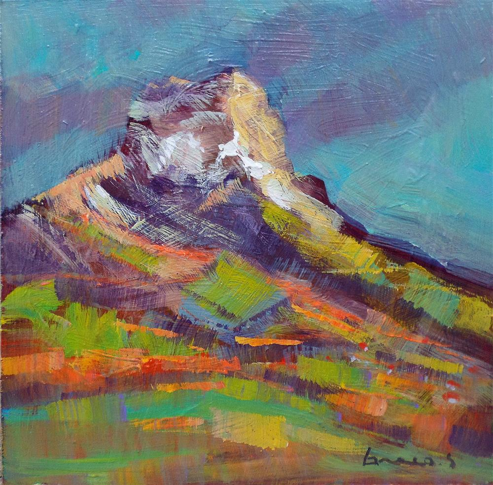 """My mountain"" original fine art by salvatore greco"