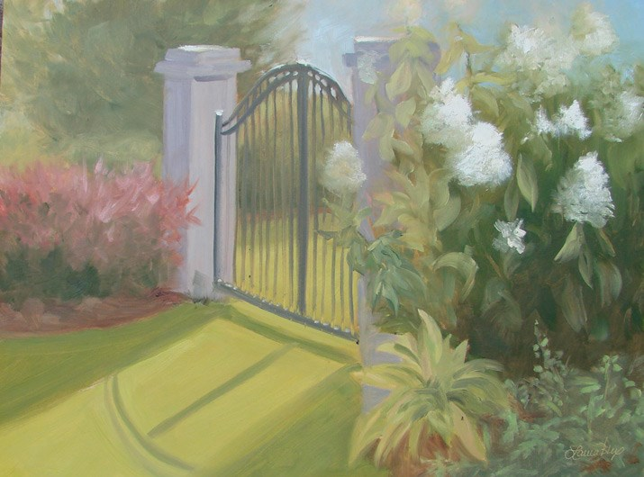 """Angie's Gate 255"" original fine art by Laura  Buxo"