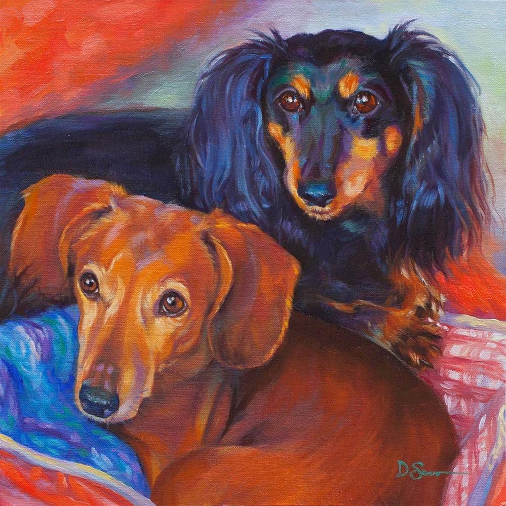 """Gypsy and Spinner"" original fine art by Deborah Savo"
