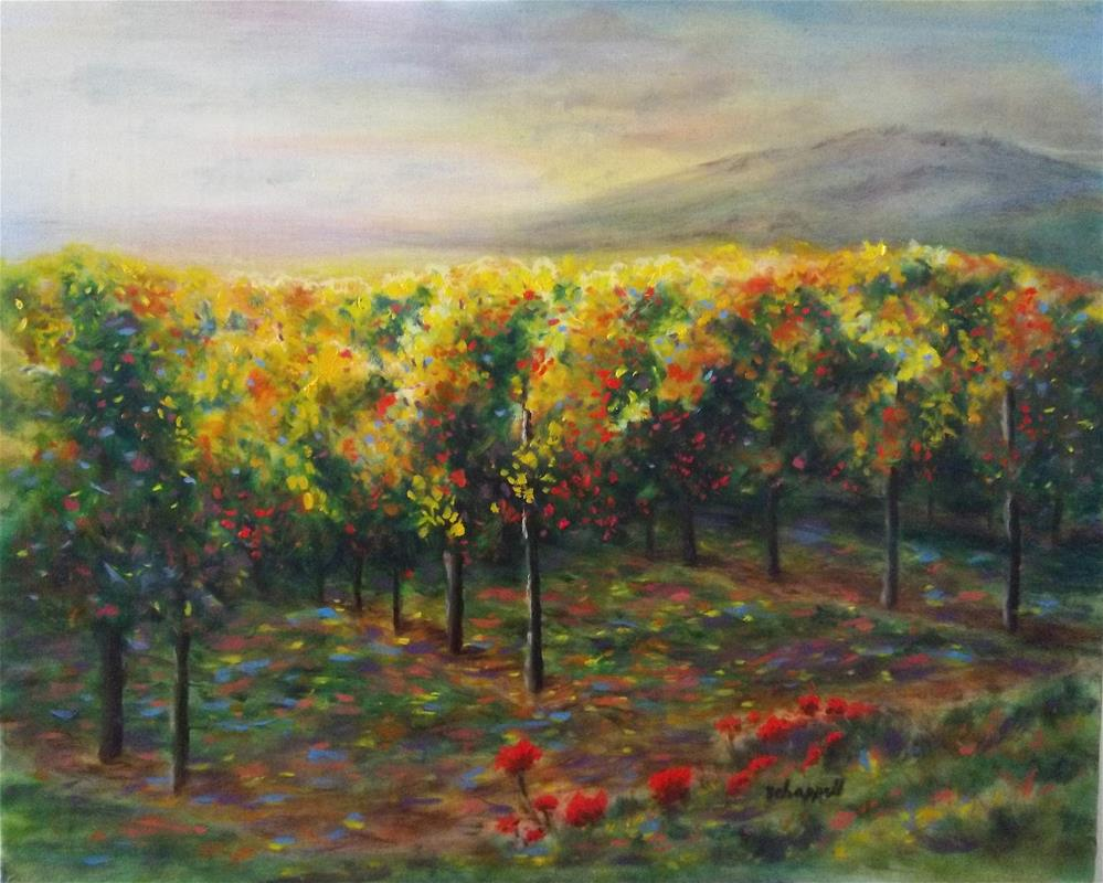 """Vineyard Glow"" original fine art by Becky Chappell"
