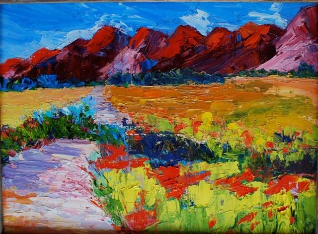 """""""Big Bend in Bloom"""" original fine art by Liz Zornes"""