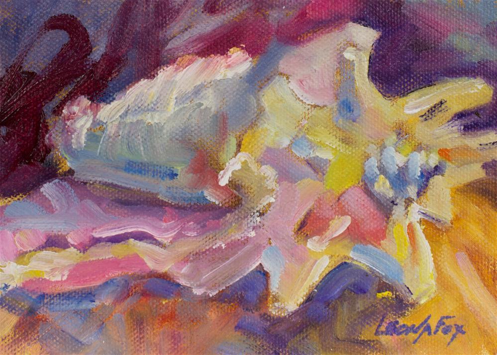 """Shell"" original fine art by Leona Fox"
