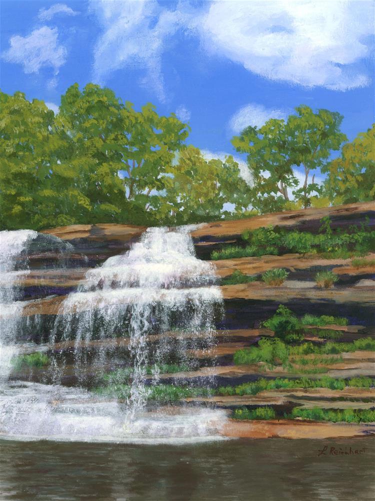 """Pixley Falls"" original fine art by Lynne Reichhart"