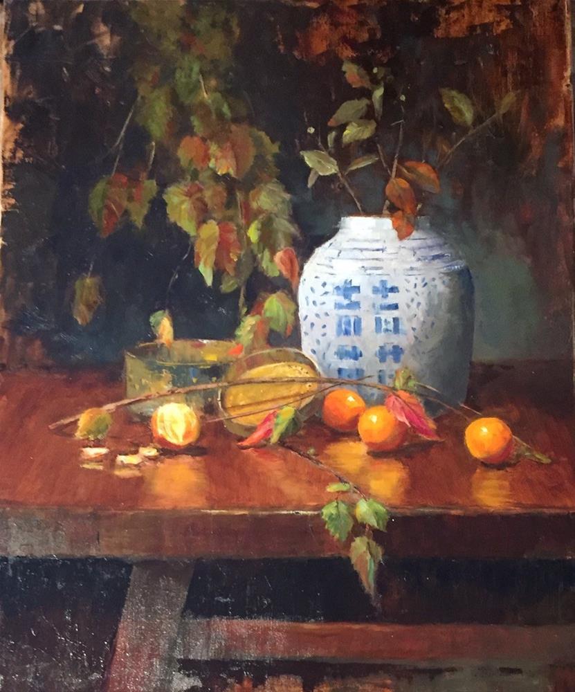 """Autumn Ensemble"" original fine art by Barbara Fluty"