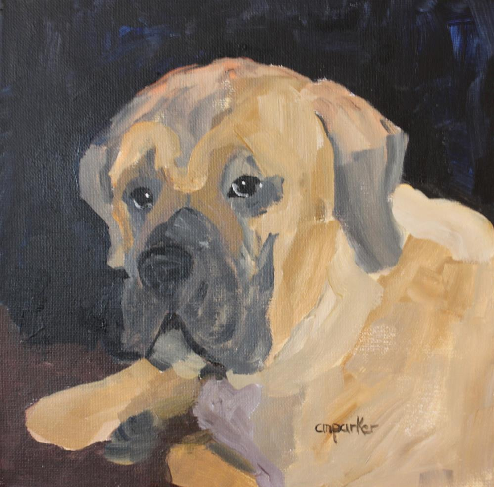 """Mastiff"" original fine art by Christine Parker"