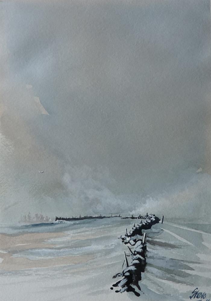 """Snow Squall"" original fine art by Martin Stephenson"
