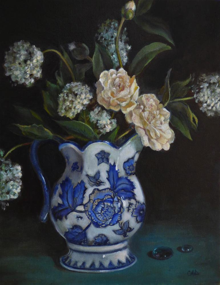 """Still Life With Scottish Pitcher"" original fine art by Christine Angelotta Dixon"