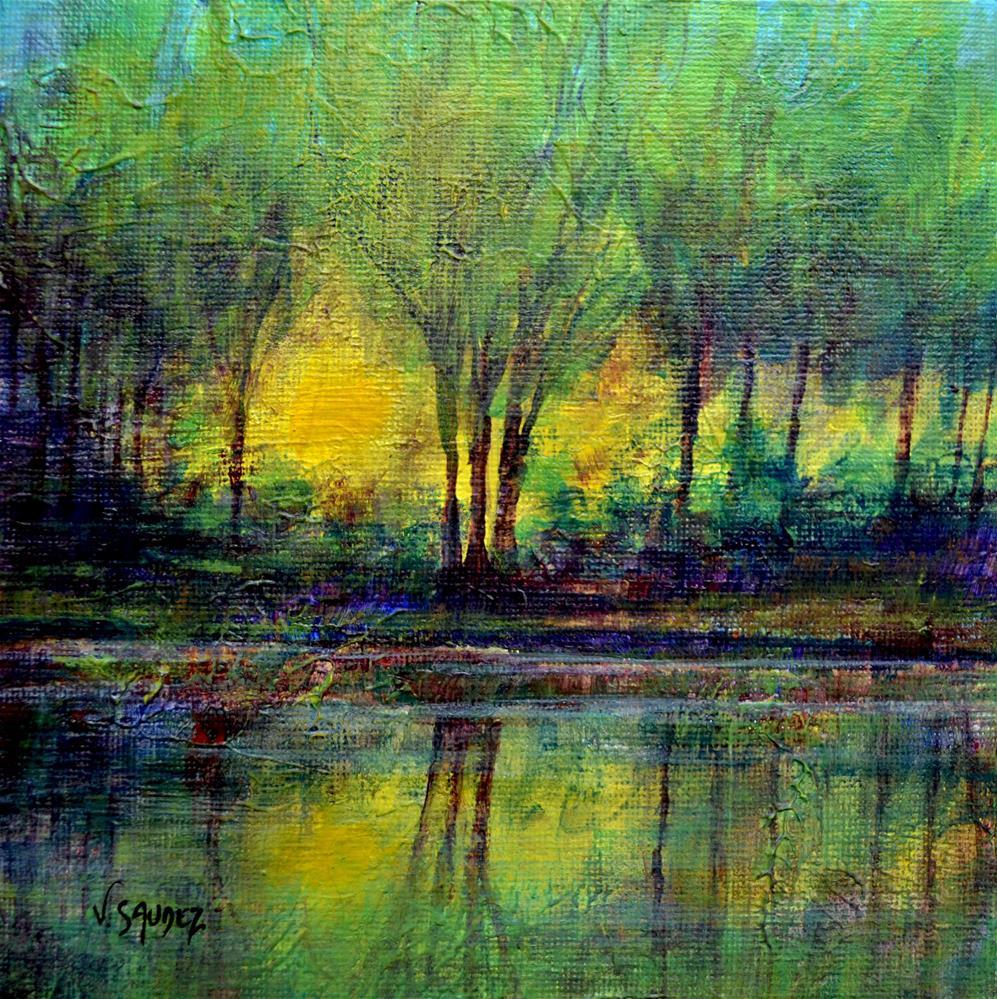 """""""In the light 3"""" original fine art by Véronique Saudez"""