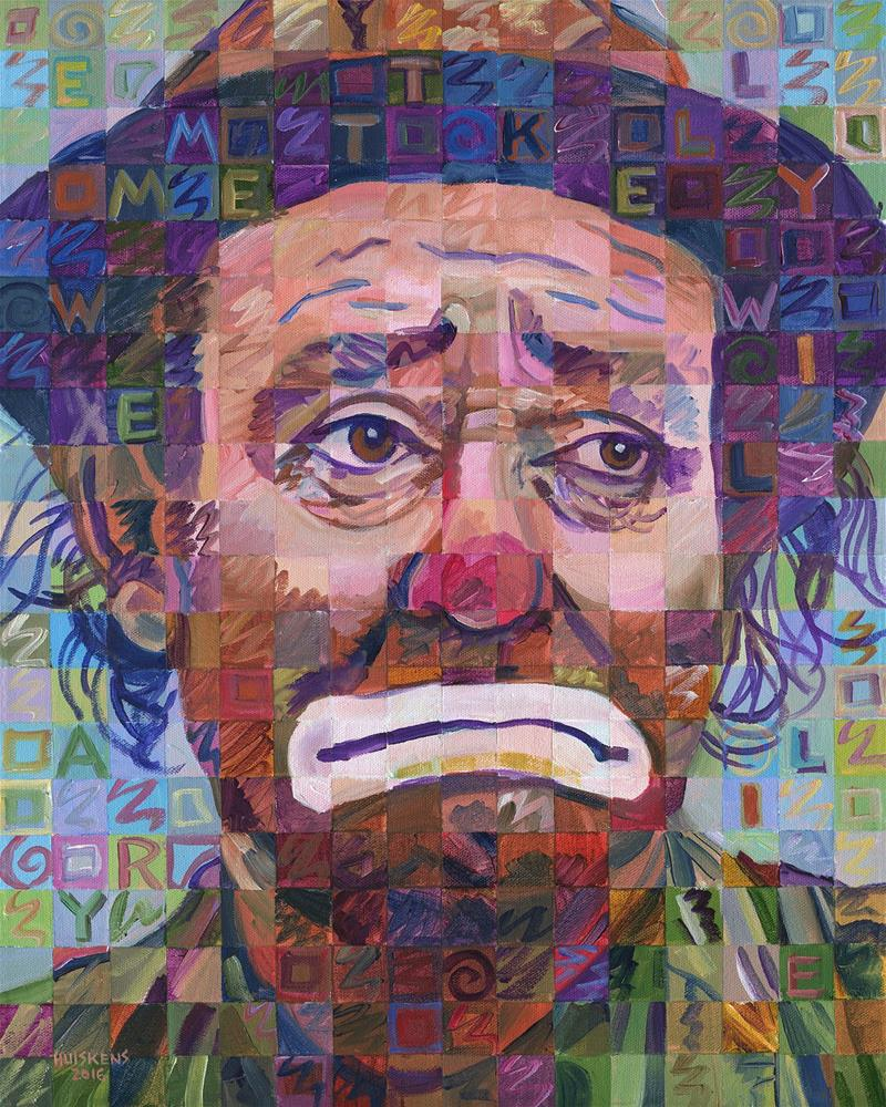 """Weary Willie (Emmett Kelly)"" original fine art by Randal Huiskens"