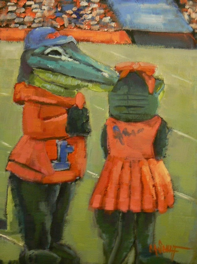 """THE SWAMP, 6X8, OIL"" original fine art by Carol Schiff"
